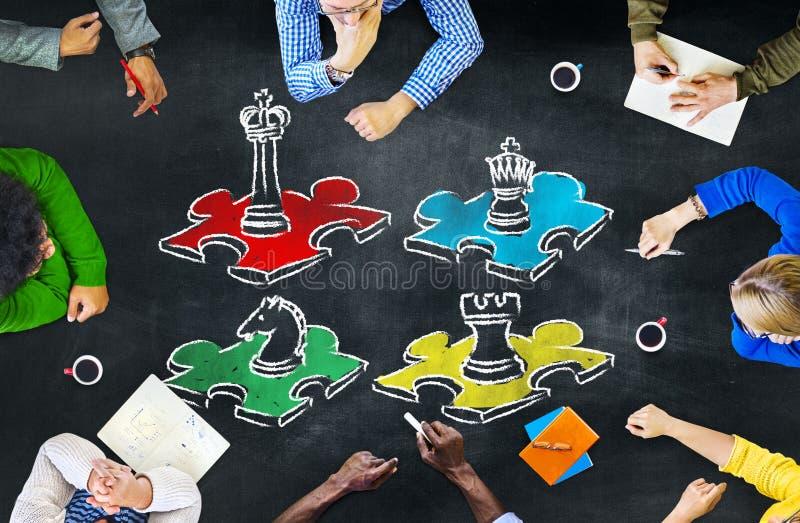 下棋比赛战略休闲娱乐休闲概念 免版税库存图片