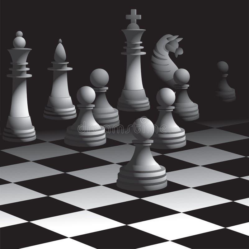 下棋比赛 向量例证