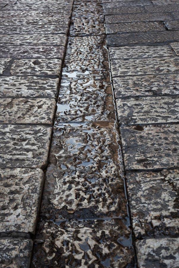 下水管道系统在耶路撒冷旧城 免版税库存图片
