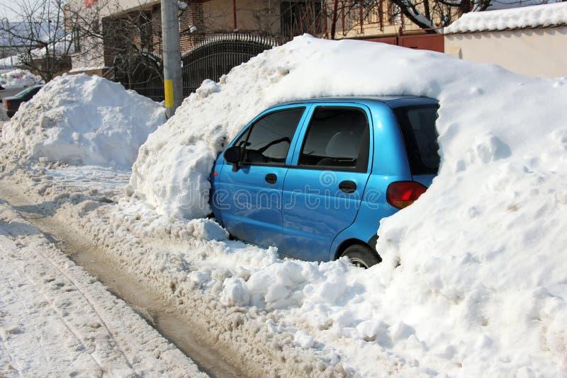 下汽车雪 库存图片