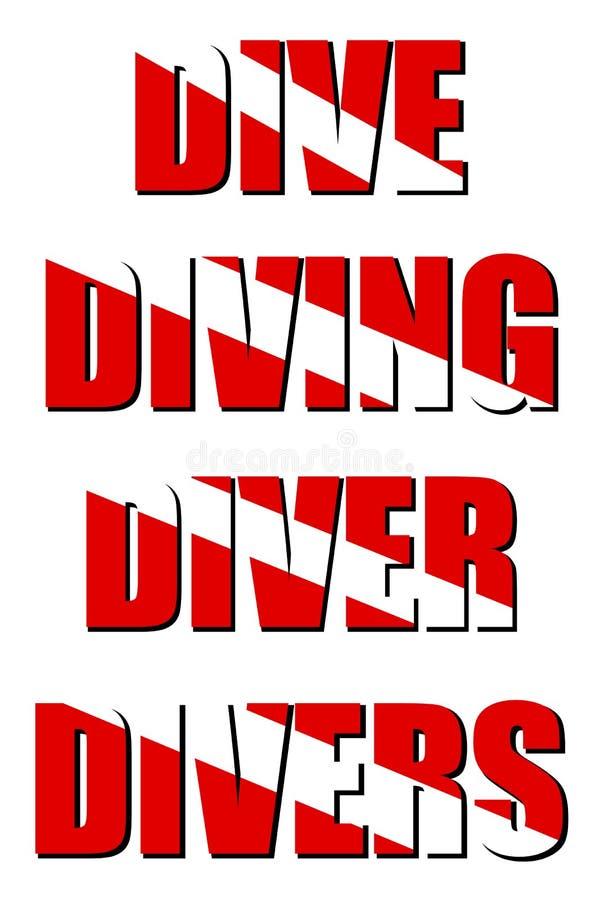 下潜潜水员潜水员潜水 库存例证
