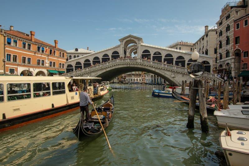 下班时间在威尼斯 免版税图库摄影