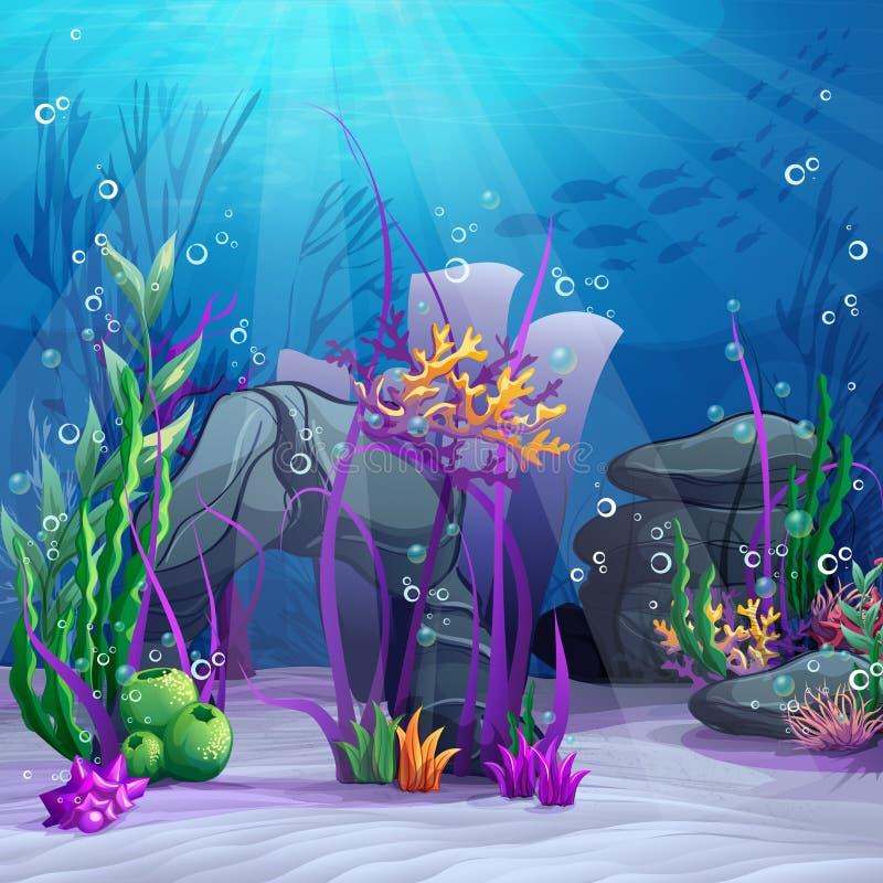 水下的世界的例证 皇族释放例证