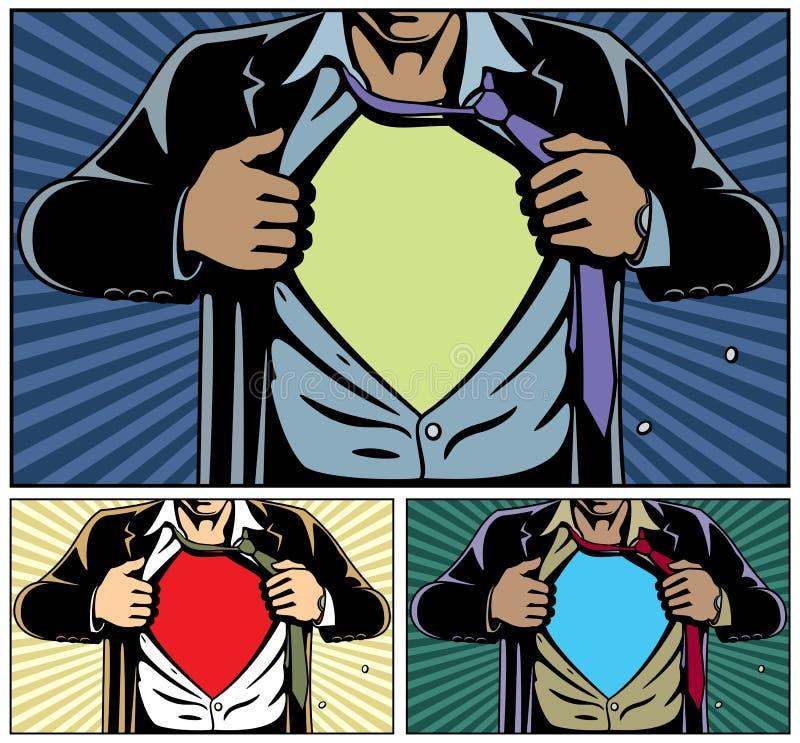 下盖子超级英雄 向量例证