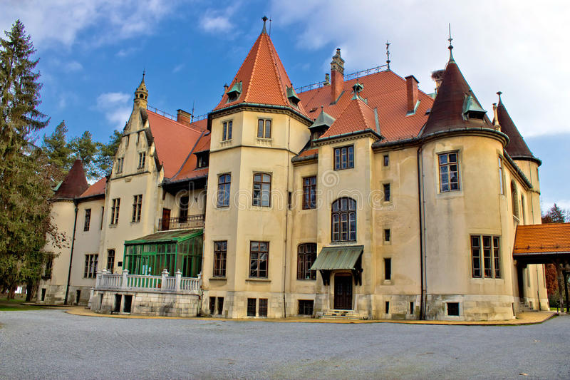 下米霍利亚茨城堡本质上 免版税库存图片