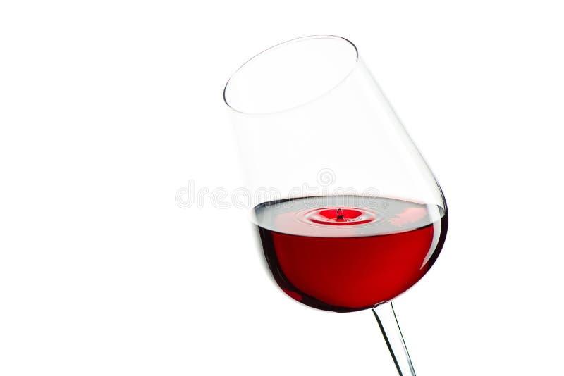 下落下跌玻璃红葡萄酒 免版税库存照片