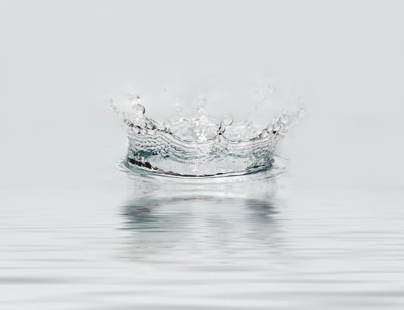 下落冻结的水 库存图片