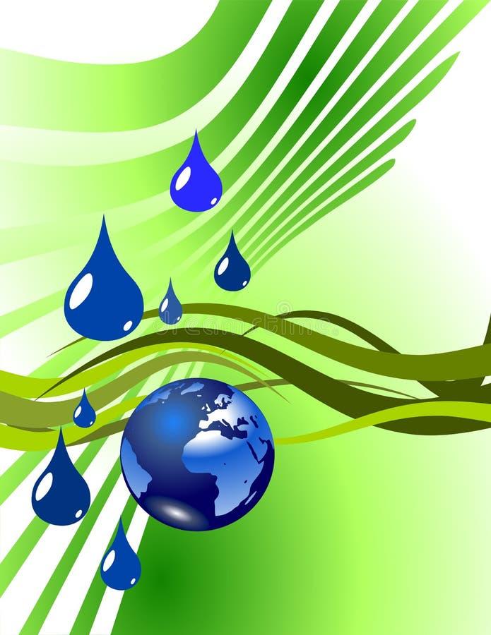 下落地球地球水 向量例证