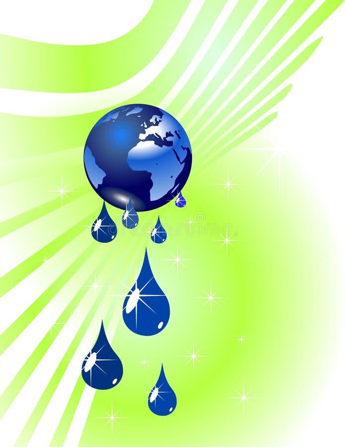 下落地球地球水 库存例证