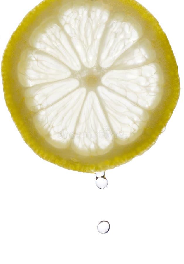 下落柠檬 库存图片