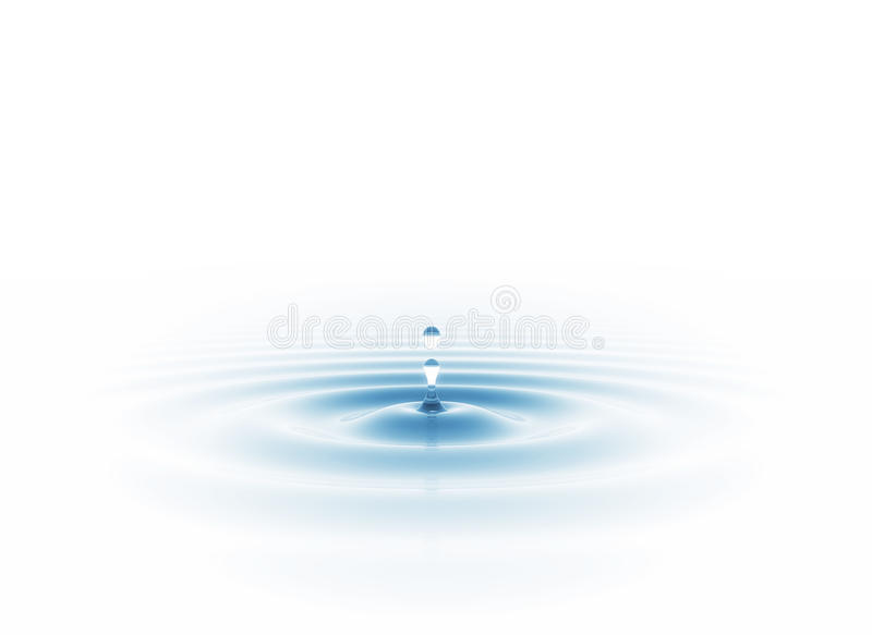 下落水 免版税图库摄影