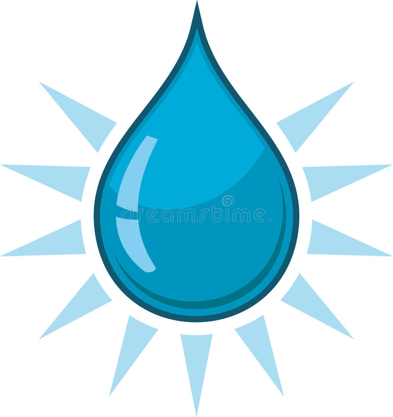 下落水 向量例证