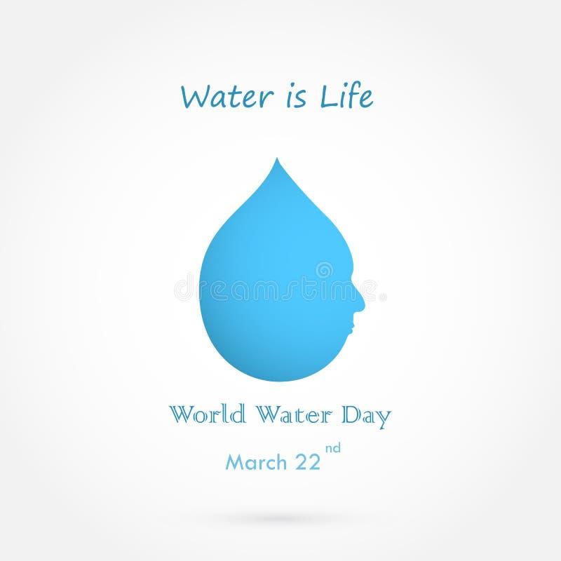 水下落用人面传染媒介商标设计和水是生活 皇族释放例证