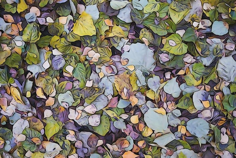 下落的叶子抽象背景  库存照片