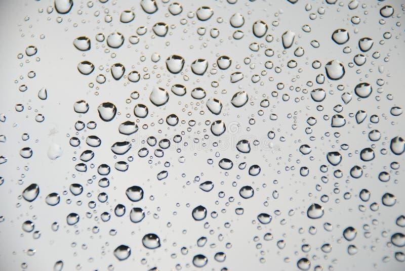下落雨视窗 图库摄影