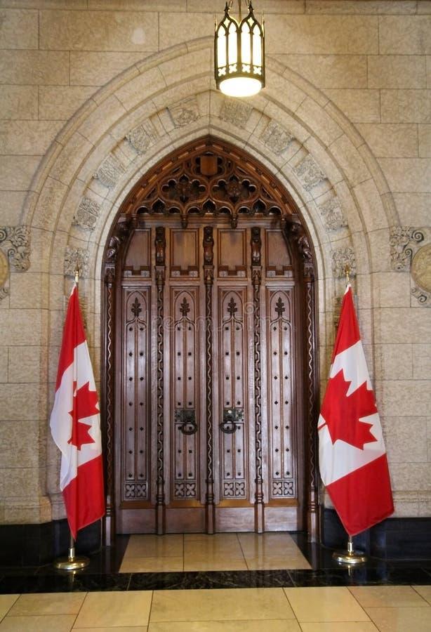 下议院的门 免版税库存照片