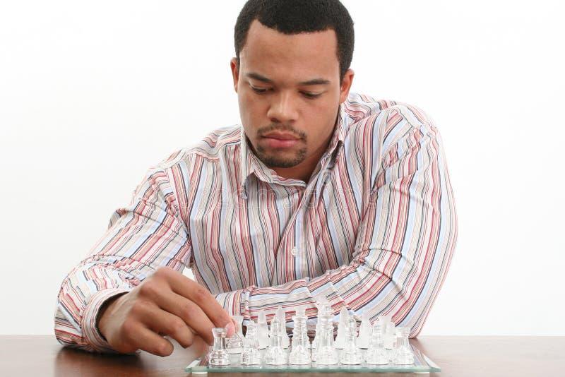 下象棋者年轻人 库存图片