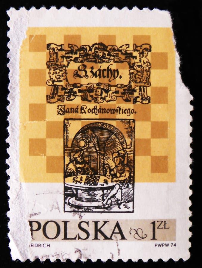下象棋者,大约1974年 免版税图库摄影
