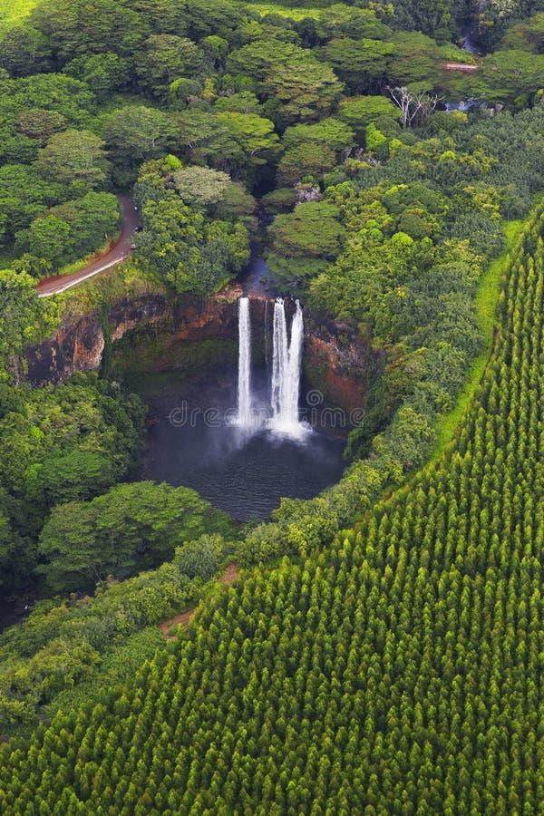 下跌夏威夷考艾岛wailua 免版税库存图片