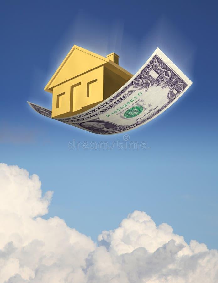 下跌的住房价格 皇族释放例证