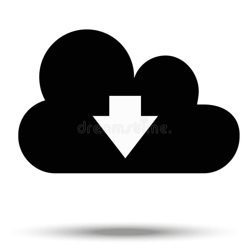 下载从云彩的数据标志 背景查出的白色 库存例证
