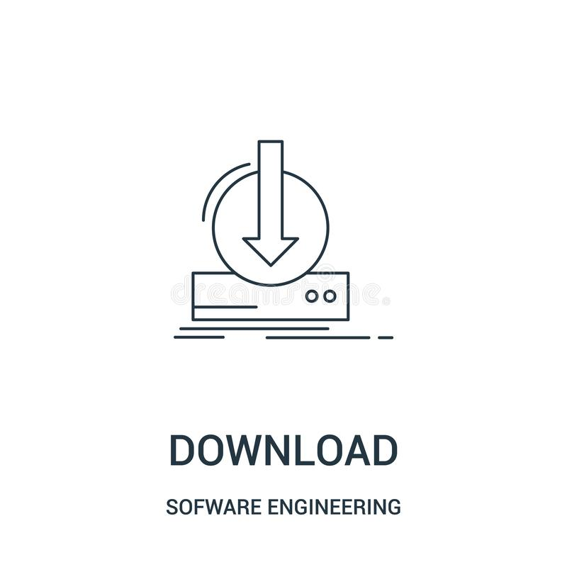 下载从软件工程录影赌博收藏的象传染媒介 稀薄的线下载概述象传染媒介例证 线性 库存例证