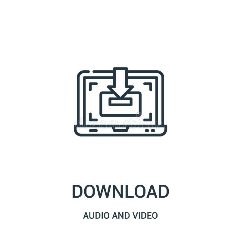 下载从音频和录影收藏的象传染媒介 稀薄的线下载概述象传染媒介例证 向量例证