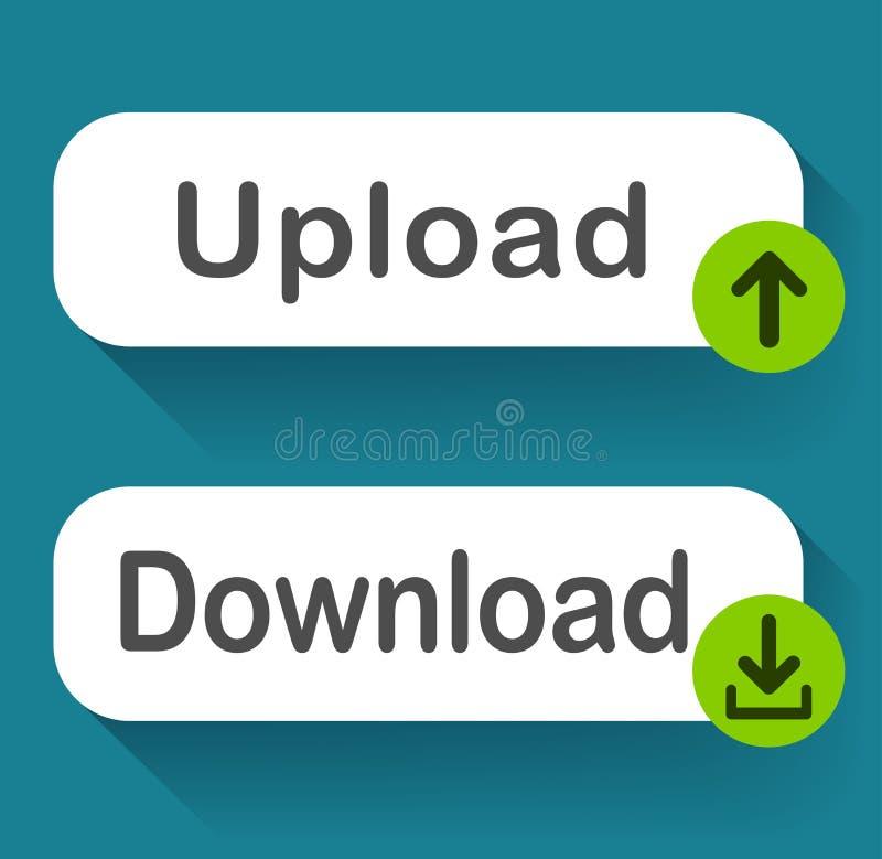 下载和加载按钮设计 库存例证