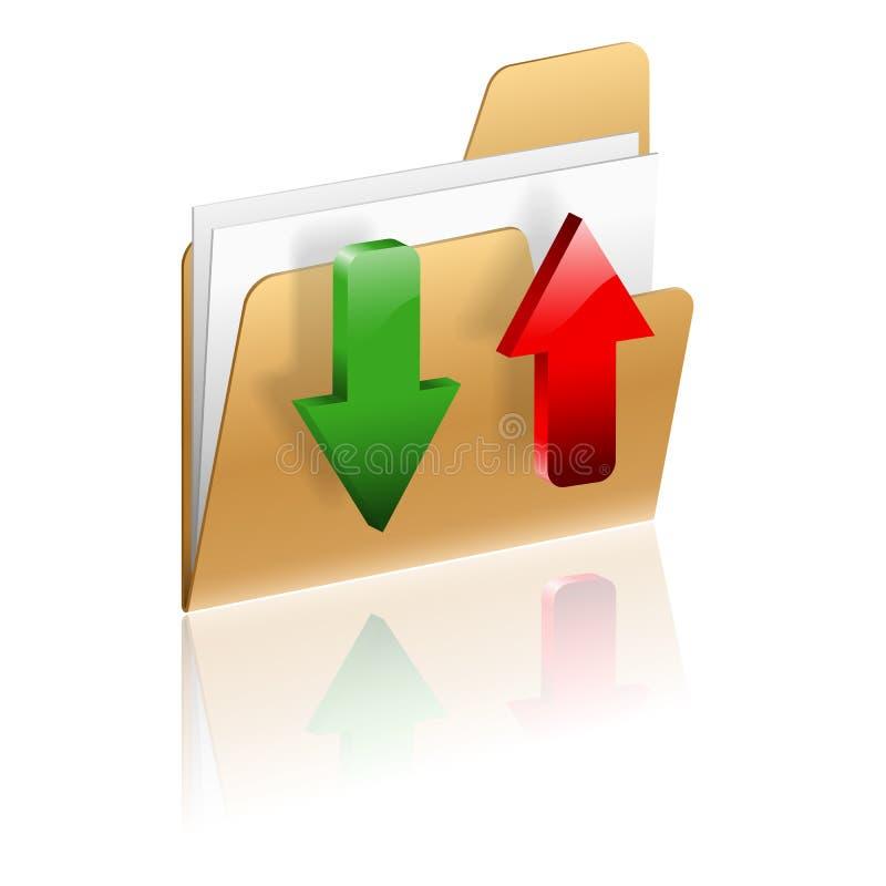 下载和加载文件夹图标 向量例证
