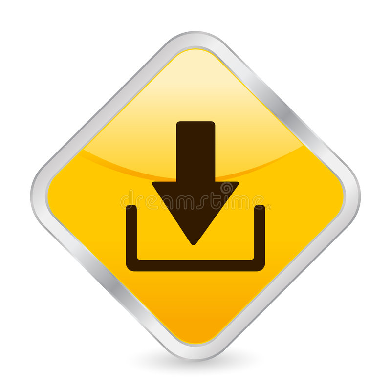 下载图标正方形黄色 库存例证