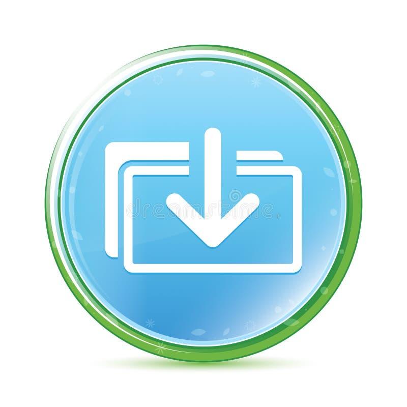 下载归档象自然水色深蓝蓝色圆的按钮 皇族释放例证