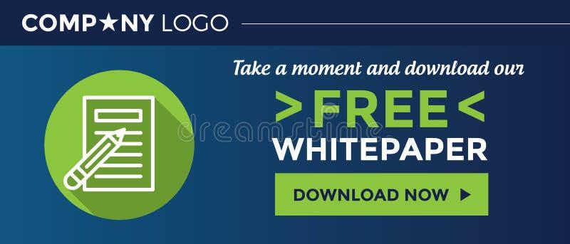 下载我们的自由Whitepaper图表横幅-网站 向量例证