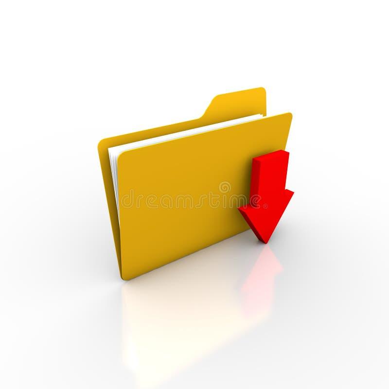 下载或挽救归档入文件夹 库存例证