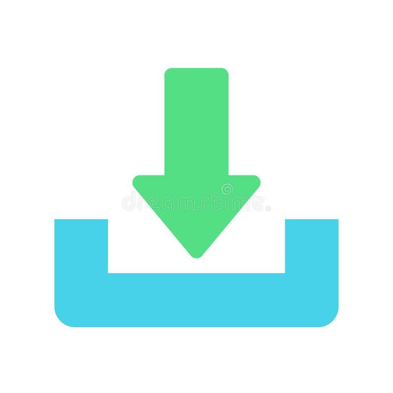 下载或救球标志象 平的样式 皇族释放例证