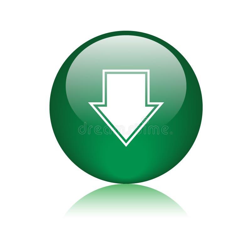 下载按钮绿色 库存例证