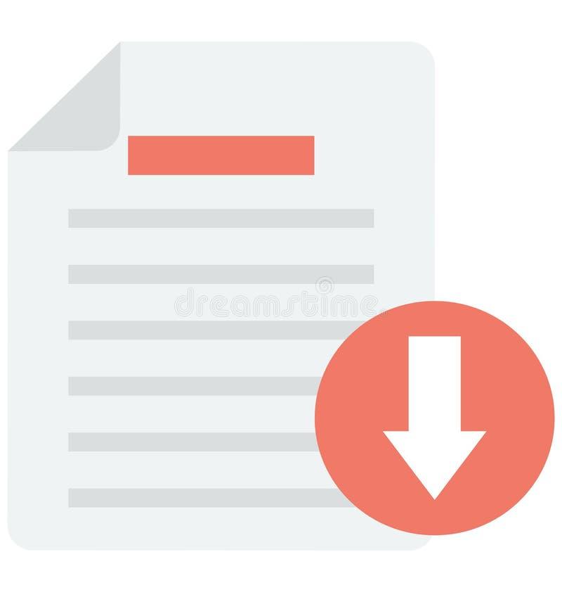 下载文件可以容易地是编辑或修改的传染媒介象 库存例证