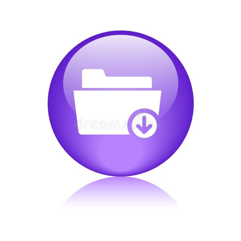 下载文件夹标志象 库存例证