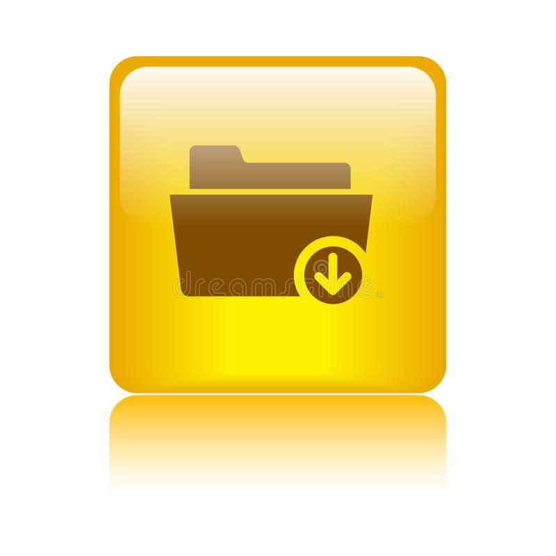 下载文件夹标志象 向量例证