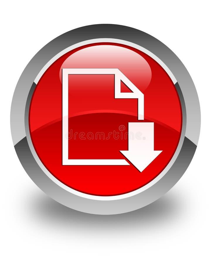 下载文件象光滑的红色圆的按钮 皇族释放例证