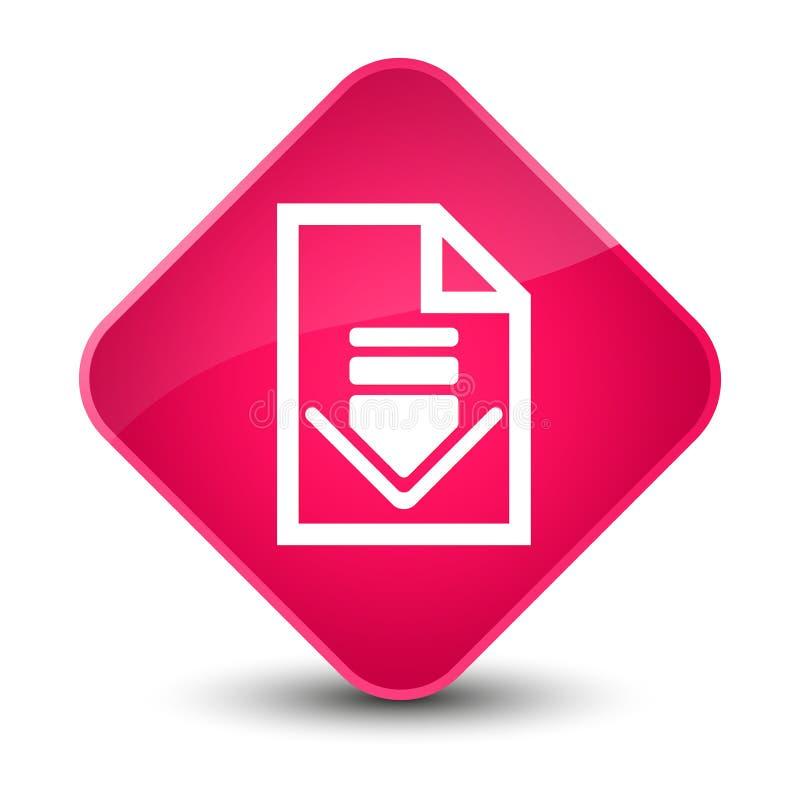 下载文件象典雅的桃红色金刚石按钮 库存例证
