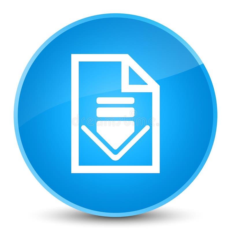 下载文件象典雅的深蓝蓝色圆的按钮 皇族释放例证