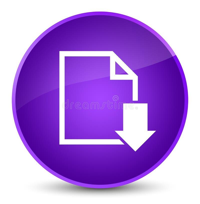 下载文件象典雅的紫色圆的按钮 皇族释放例证