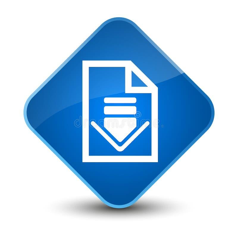 下载文件象典雅的蓝色金刚石按钮 皇族释放例证