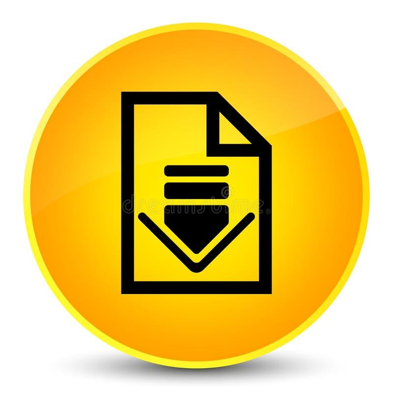 下载文件象典雅的黄色圆的按钮 皇族释放例证
