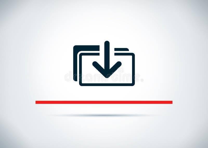 下载文件象摘要平的背景设计例证 皇族释放例证