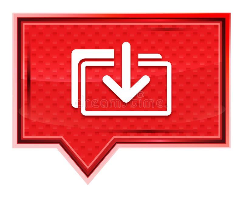 下载文件象有薄雾的淡粉红色横幅按钮 库存例证