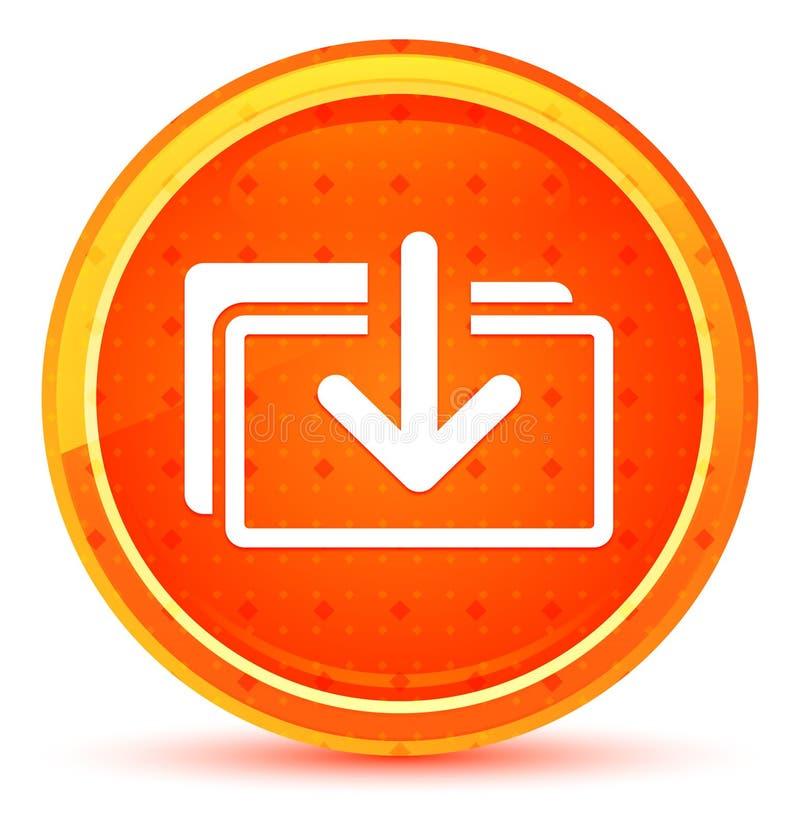 下载文件象自然橙色圆的按钮 库存例证