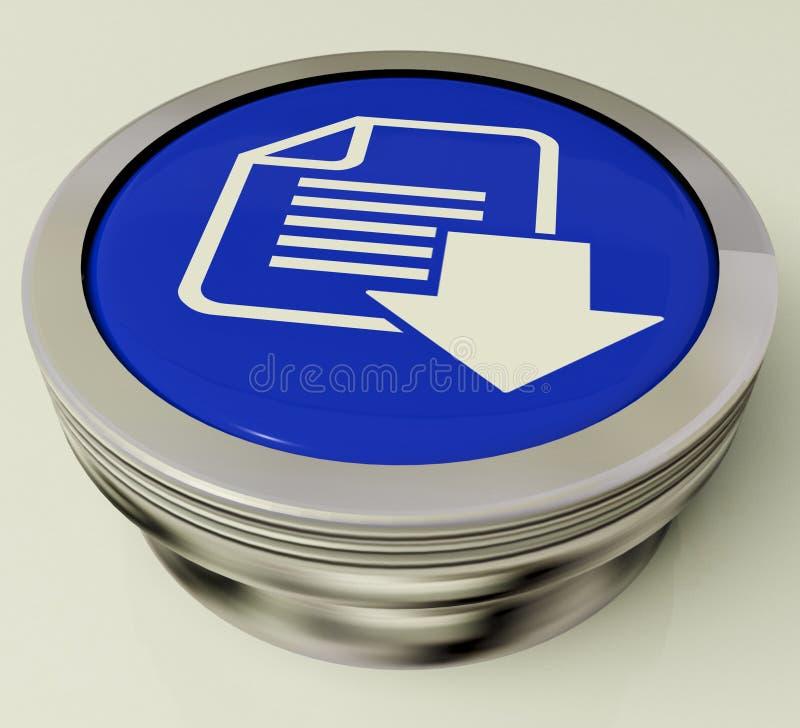 下载文件按钮展示下载了软件 库存例证