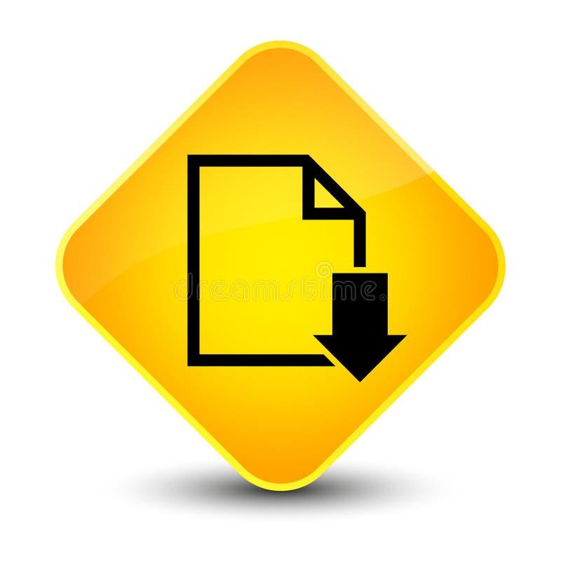 下载文件象典雅的黄色金刚石按钮 库存例证