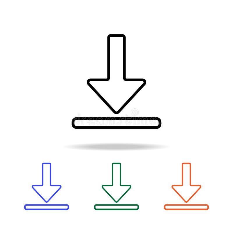 下载标志象 简单的网象的元素在多颜色的 优质质量图形设计象 网站的简单的象, 皇族释放例证